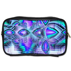 Peacock Crystal Palace Of Dreams, Abstract Travel Toiletry Bag (Two Sides)