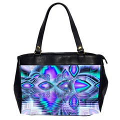 Peacock Crystal Palace Of Dreams, Abstract Oversize Office Handbag (Two Sides)