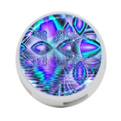 Peacock Crystal Palace Of Dreams, Abstract 4-Port USB Hub (Two Sides)
