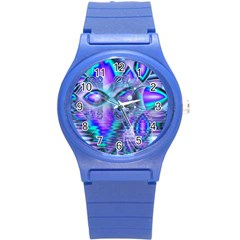 Peacock Crystal Palace Of Dreams, Abstract Plastic Sport Watch (Small)
