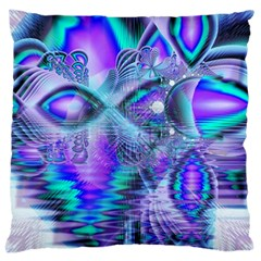 Peacock Crystal Palace Of Dreams, Abstract Large Cushion Case (Single Sided)