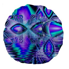 Peacock Crystal Palace Of Dreams, Abstract 18  Premium Round Cushion