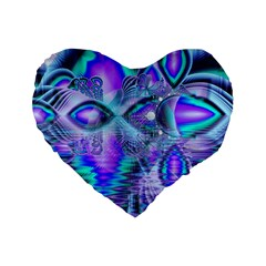 Peacock Crystal Palace Of Dreams, Abstract 16  Premium Heart Shape Cushion