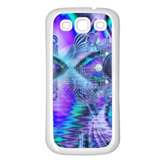Peacock Crystal Palace Of Dreams, Abstract Samsung Galaxy S3 Back Case (white)