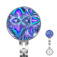 Peacock Crystal Palace Of Dreams, Abstract Stainless Steel Nurses Watch