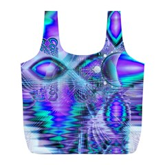 Peacock Crystal Palace Of Dreams, Abstract Reusable Bag (L)