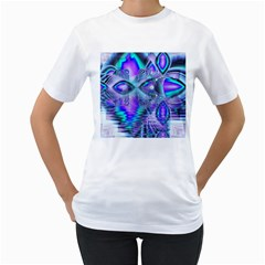 Peacock Crystal Palace Of Dreams, Abstract Women s T-Shirt (White)
