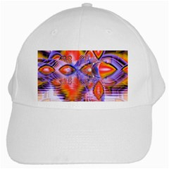 Crystal Star Dance, Abstract Purple Orange White Baseball Cap