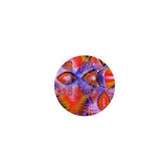 Crystal Star Dance, Abstract Purple Orange 1  Mini Button