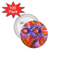 Crystal Star Dance, Abstract Purple Orange 1 75  Button (100 Pack)