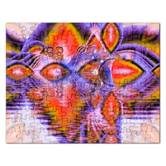 Crystal Star Dance, Abstract Purple Orange Jigsaw Puzzle (Rectangle)