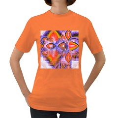 Crystal Star Dance, Abstract Purple Orange Women s T-shirt (Colored)