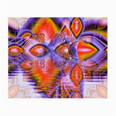 Crystal Star Dance, Abstract Purple Orange Glasses Cloth (Small)