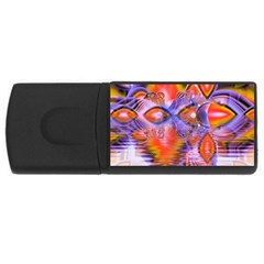 Crystal Star Dance, Abstract Purple Orange 4gb Usb Flash Drive (rectangle)
