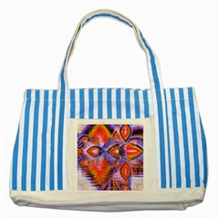 Crystal Star Dance, Abstract Purple Orange Blue Striped Tote Bag