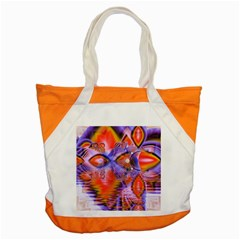 Crystal Star Dance, Abstract Purple Orange Accent Tote Bag