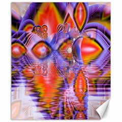 Crystal Star Dance, Abstract Purple Orange Canvas 20  x 24  (Unframed)