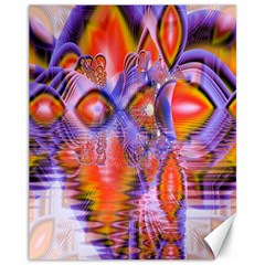 Crystal Star Dance, Abstract Purple Orange Canvas 11  X 14  (unframed)