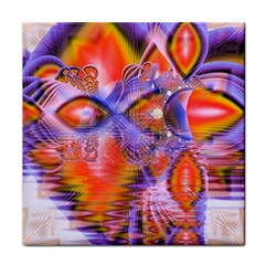 Crystal Star Dance, Abstract Purple Orange Face Towel