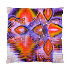 Crystal Star Dance, Abstract Purple Orange Cushion Case (Two Sided)