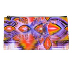 Crystal Star Dance, Abstract Purple Orange Pencil Case