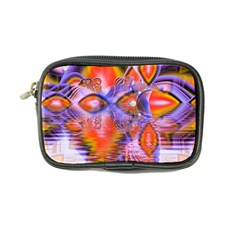 Crystal Star Dance, Abstract Purple Orange Coin Purse