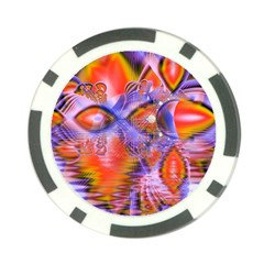 Crystal Star Dance, Abstract Purple Orange Poker Chip (10 Pack)