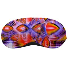 Crystal Star Dance, Abstract Purple Orange Sleeping Mask
