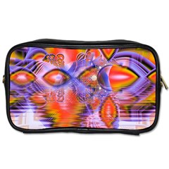 Crystal Star Dance, Abstract Purple Orange Travel Toiletry Bag (one Side)
