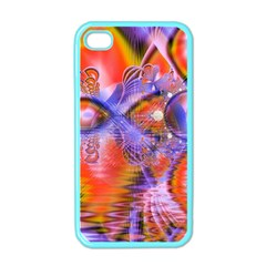 Crystal Star Dance, Abstract Purple Orange Apple Iphone 4 Case (color)