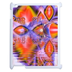 Crystal Star Dance, Abstract Purple Orange Apple Ipad 2 Case (white)