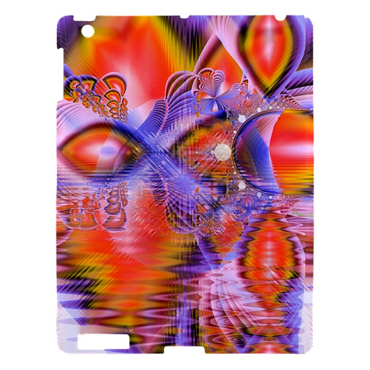 Crystal Star Dance, Abstract Purple Orange Apple iPad 3/4 Hardshell Case