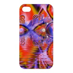 Crystal Star Dance, Abstract Purple Orange Apple iPhone 4/4S Premium Hardshell Case