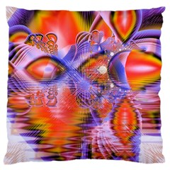 Crystal Star Dance, Abstract Purple Orange Large Cushion Case (single Sided)