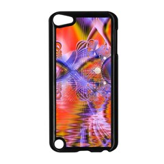 Crystal Star Dance, Abstract Purple Orange Apple Ipod Touch 5 Case (black)