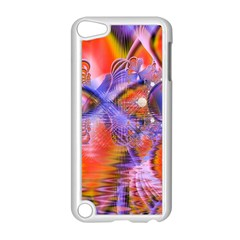 Crystal Star Dance, Abstract Purple Orange Apple iPod Touch 5 Case (White)