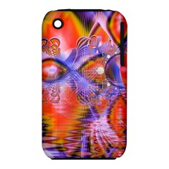 Crystal Star Dance, Abstract Purple Orange Apple iPhone 3G/3GS Hardshell Case (PC+Silicone)
