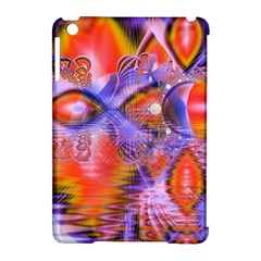 Crystal Star Dance, Abstract Purple Orange Apple iPad Mini Hardshell Case (Compatible with Smart Cover)