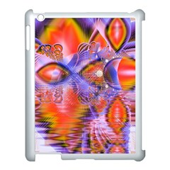 Crystal Star Dance, Abstract Purple Orange Apple iPad 3/4 Case (White)
