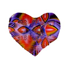 Crystal Star Dance, Abstract Purple Orange 16  Premium Heart Shape Cushion