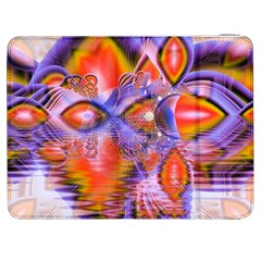 Crystal Star Dance, Abstract Purple Orange Samsung Galaxy Tab 7  P1000 Flip Case