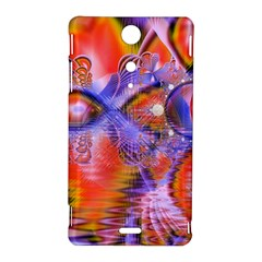 Crystal Star Dance, Abstract Purple Orange Sony Xperia TX Hardshell Case