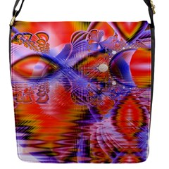 Crystal Star Dance, Abstract Purple Orange Removable Flap Cover (Small)