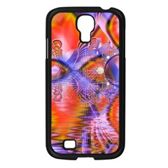 Crystal Star Dance, Abstract Purple Orange Samsung Galaxy S4 I9500/ I9505 Case (Black)