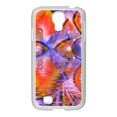 Crystal Star Dance, Abstract Purple Orange Samsung Galaxy S4 I9500/ I9505 Case (white)