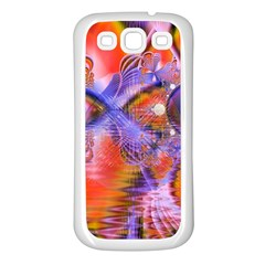 Crystal Star Dance, Abstract Purple Orange Samsung Galaxy S3 Back Case (white)