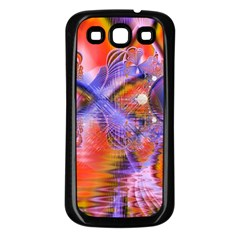Crystal Star Dance, Abstract Purple Orange Samsung Galaxy S3 Back Case (Black)