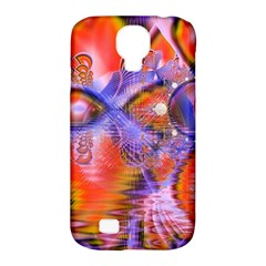 Crystal Star Dance, Abstract Purple Orange Samsung Galaxy S4 Classic Hardshell Case (PC+Silicone)