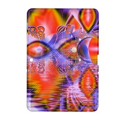 Crystal Star Dance, Abstract Purple Orange Samsung Galaxy Tab 2 (10 1 ) P5100 Hardshell Case