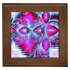 Crystal Northern Lights Palace, Abstract Ice  Framed Ceramic Tile
